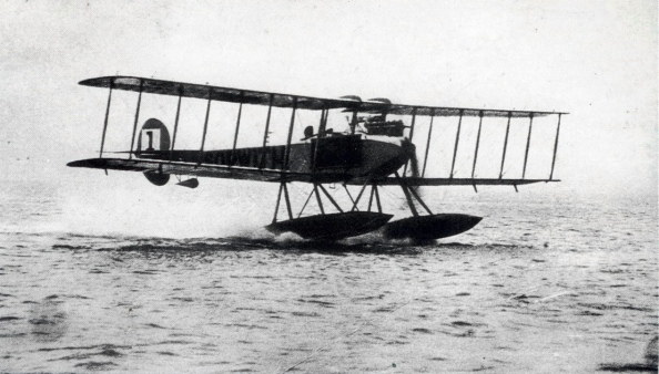 Sopwith Waterplane Taking Off